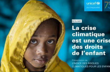 l'UNICEF publie le nouveau rapport « La crise climatique est une crise des droits de l'enfant : Présentation de l'indice de risque climatique des enfants »